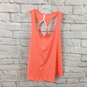 Under Armour Neon Orange Tank Top S Small work out